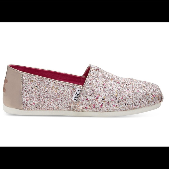 e853b745fabe TOMS Candy Cane Glitter Party Shoes - SIZE 7.5